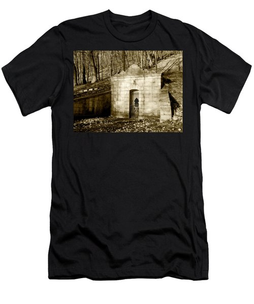 Tomb With A View In Sepia Men's T-Shirt (Athletic Fit)