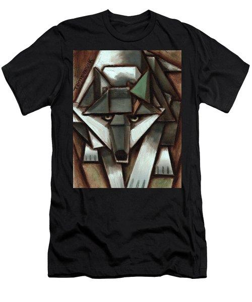 Tommervik Gray Wolf Tree Art Print Men's T-Shirt (Athletic Fit)