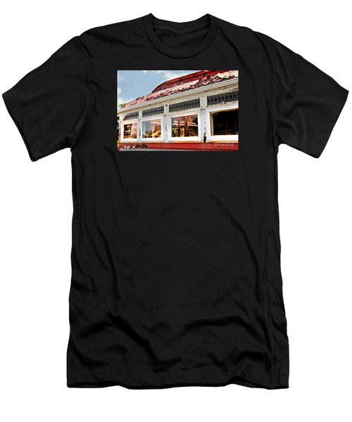Tom's Diner Ghost Men's T-Shirt (Athletic Fit)