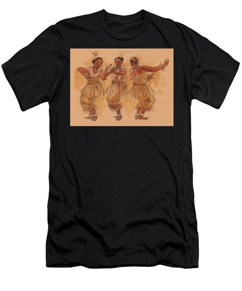 Tonga Dance From Niuafo'ou Men's T-Shirt (Athletic Fit)