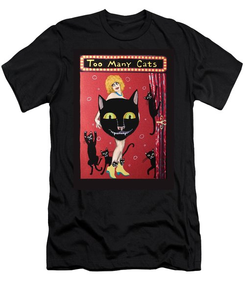 Too Many Black Cats Men's T-Shirt (Athletic Fit)