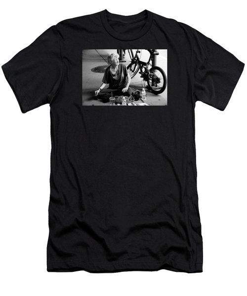 Men's T-Shirt (Slim Fit) featuring the photograph Too Much Homelessness by Monte Stevens