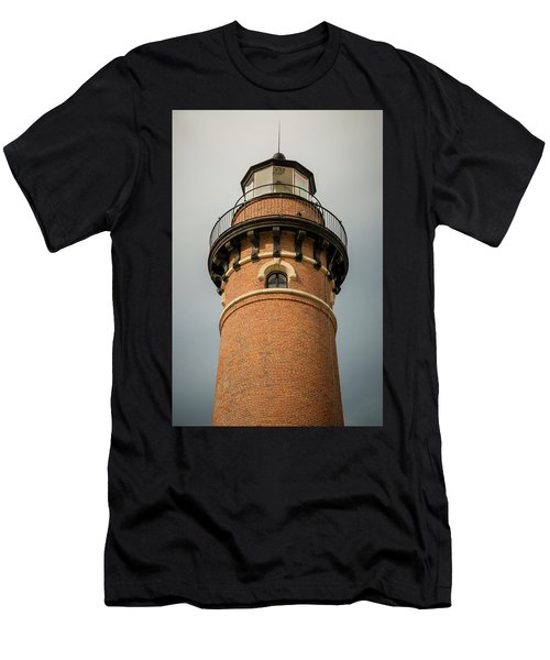 Men's T-Shirt (Athletic Fit) featuring the photograph Top Of Little Sable Point Lighthouse by Adam Romanowicz