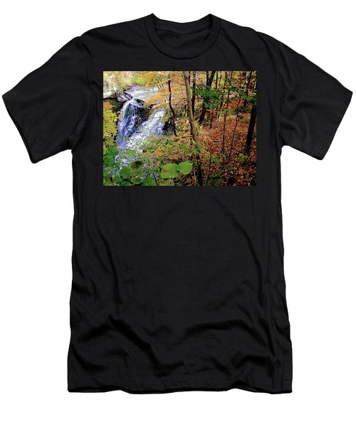 Top Of The Falls Men's T-Shirt (Athletic Fit)