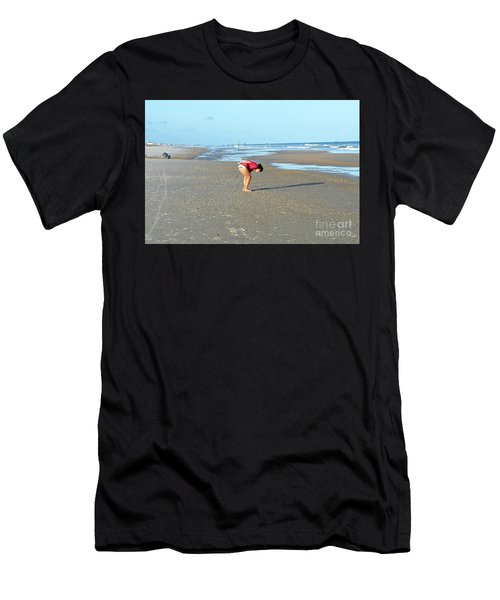 Topsail Island Beach Men's T-Shirt (Athletic Fit)