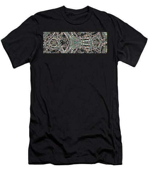 Men's T-Shirt (Slim Fit) featuring the digital art Torn Patterns by Ron Bissett