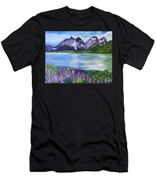 Torres Del Paine In Chile Men's T-Shirt (Athletic Fit)