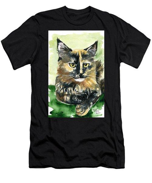 Tortoiseshell Maine Coon Portrait Men's T-Shirt (Athletic Fit)