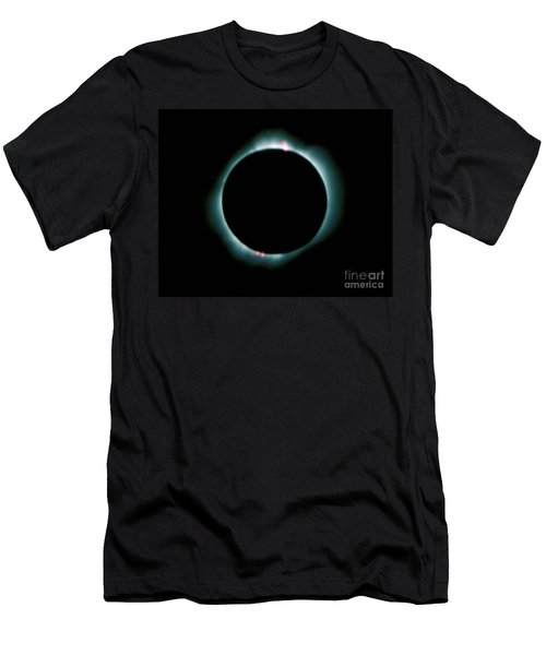 Men's T-Shirt (Athletic Fit) featuring the photograph Total Solar Eclipse by Jon Burch Photography