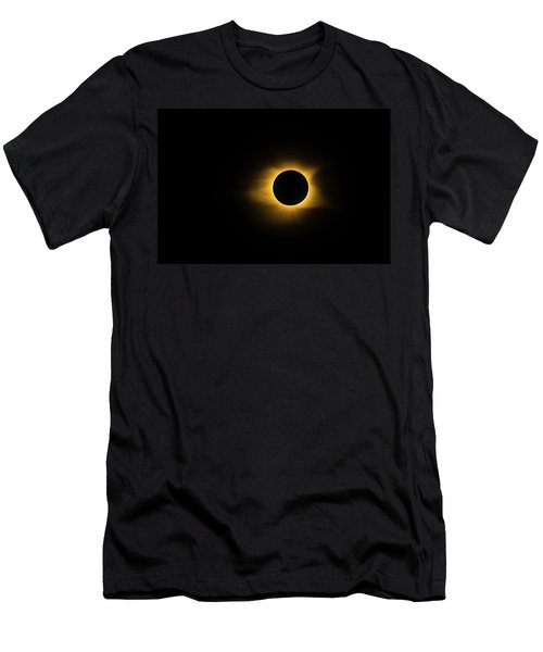 Men's T-Shirt (Athletic Fit) featuring the photograph Totality True Color by Onyonet  Photo Studios