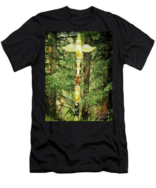 Totem Pole Men's T-Shirt (Athletic Fit)