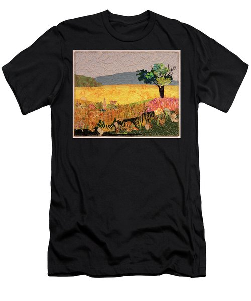 Touch Of Goldenrod Men's T-Shirt (Athletic Fit)