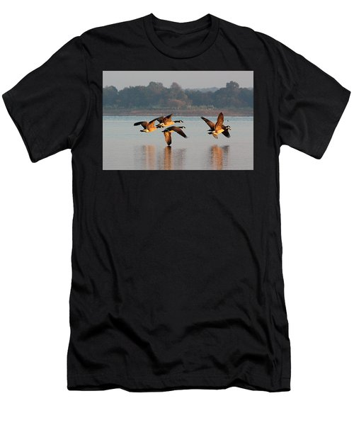 Touching Down At Sunrise Men's T-Shirt (Athletic Fit)