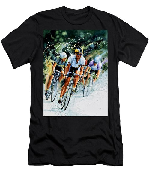 Men's T-Shirt (Athletic Fit) featuring the painting Tour De Force by Hanne Lore Koehler