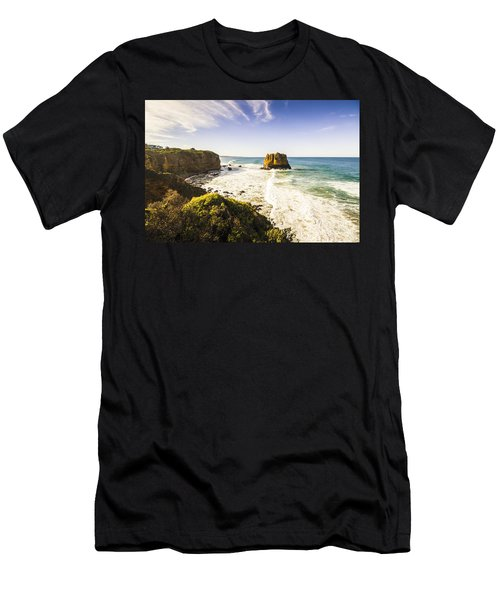 Tourism Landmarks In Australia Men's T-Shirt (Athletic Fit)