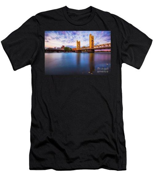 Tower Bridge Sacramento 3 Men's T-Shirt (Athletic Fit)