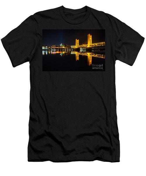 Tower Bridge Sacramento Men's T-Shirt (Athletic Fit)