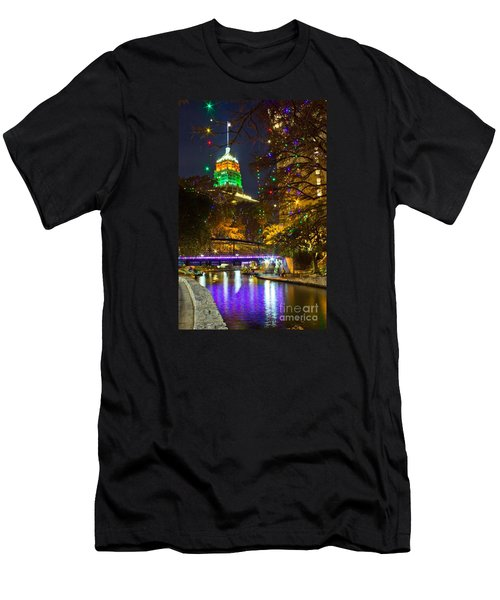 Tower Life Riverwalk Christmas Men's T-Shirt (Athletic Fit)