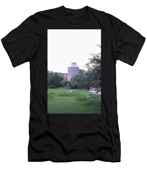 Tower Of The Future, Statue And Lying Woman Men's T-Shirt (Athletic Fit)