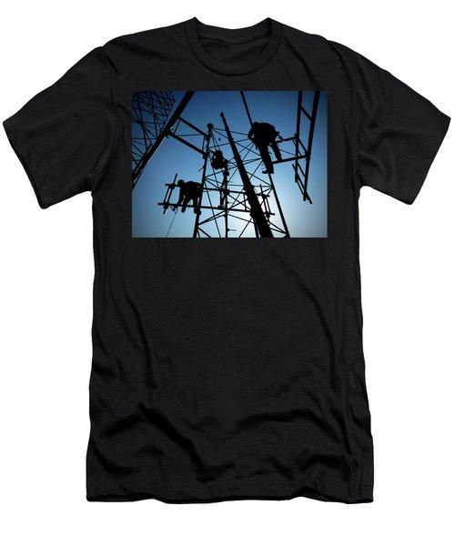 Tower Tech Men's T-Shirt (Slim Fit) by Robert Geary