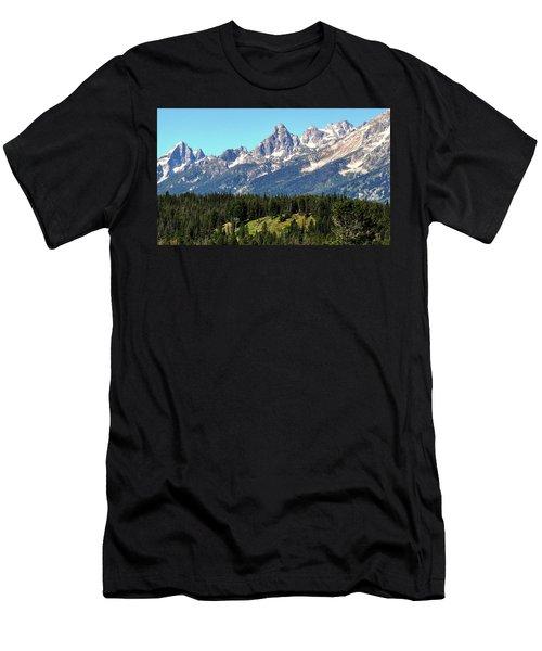 Towering Teton Range  Men's T-Shirt (Athletic Fit)