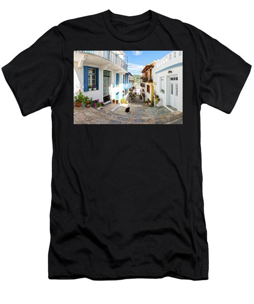 Town Of Skopelos Men's T-Shirt (Athletic Fit)