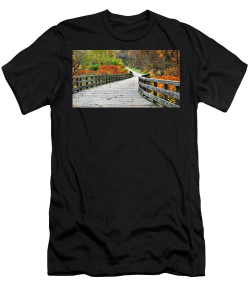 Towpath In Summit County Ohio Men's T-Shirt (Athletic Fit)