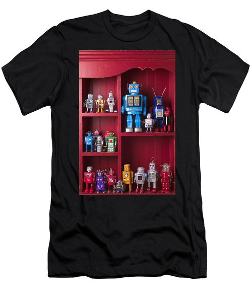 Toy Robots On Shelf  Men's T-Shirt (Athletic Fit)