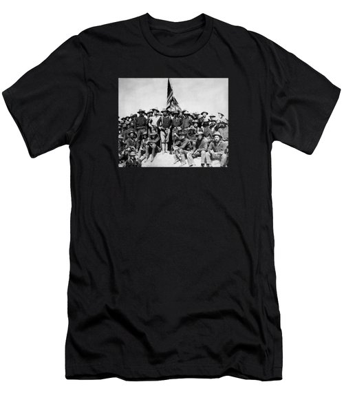 Tr And The Rough Riders Men's T-Shirt (Athletic Fit)