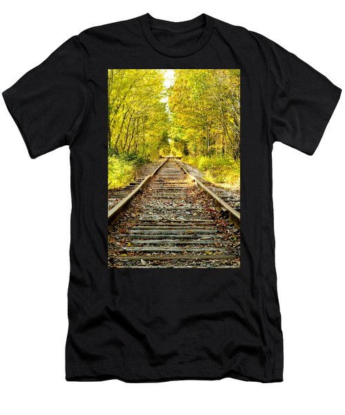 Track To Nowhere Men's T-Shirt (Athletic Fit)