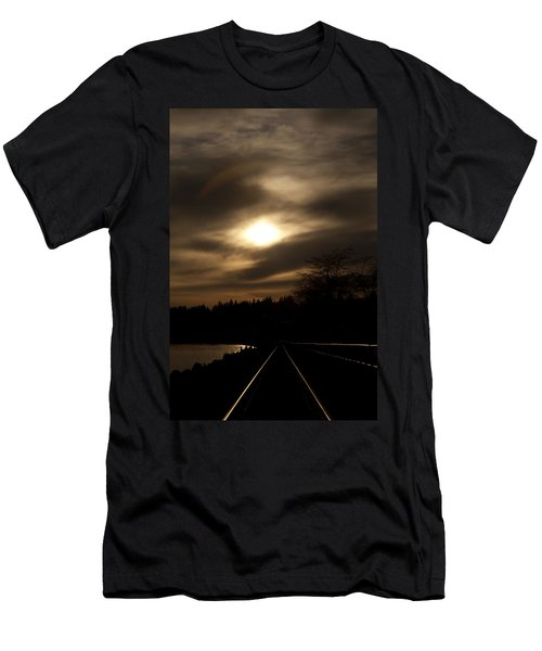 Tracking The Sun Men's T-Shirt (Athletic Fit)