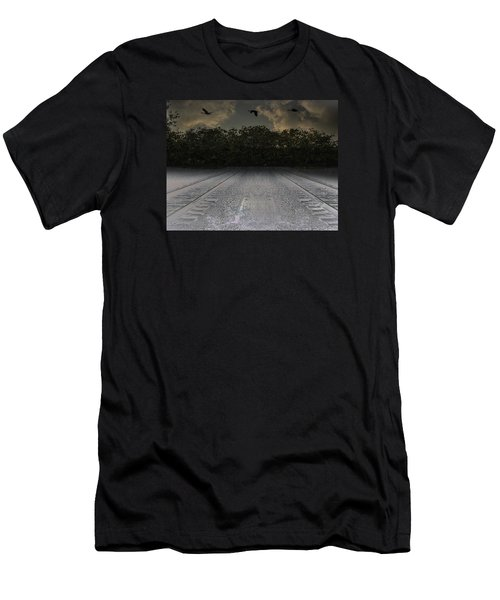 Tracks In The Sky Men's T-Shirt (Athletic Fit)