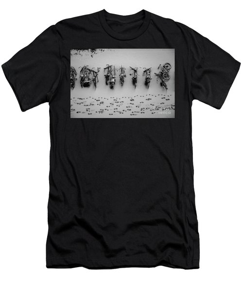 Tracks N Bicycles Men's T-Shirt (Athletic Fit)