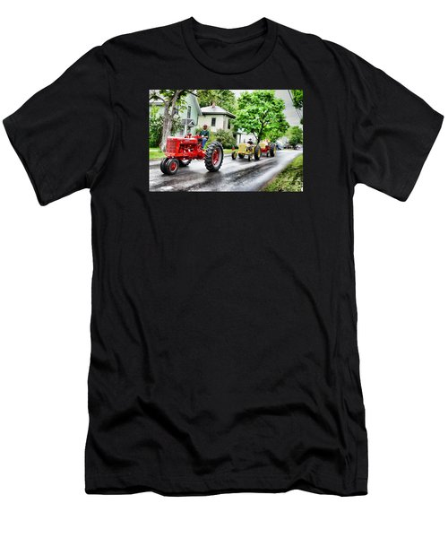 Tractors On Parade Men's T-Shirt (Athletic Fit)