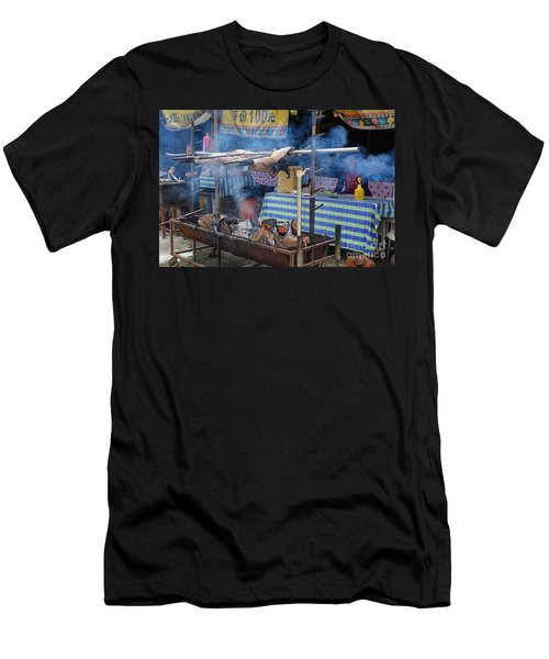 Traditional Market In Taiwan Native Village Men's T-Shirt (Athletic Fit)