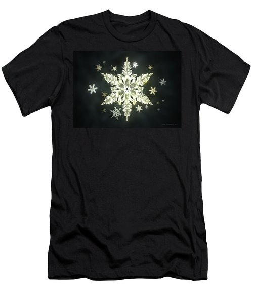 Traditional Sunlight Snowflakes Men's T-Shirt (Athletic Fit)