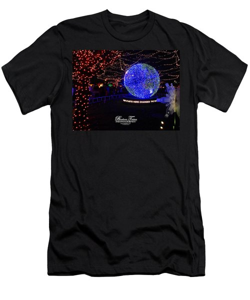 Trail Of Lights World #7359 Men's T-Shirt (Athletic Fit)