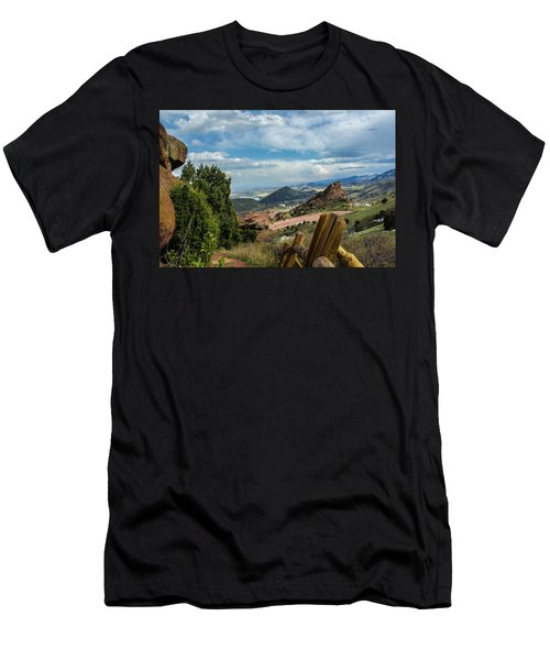Men's T-Shirt (Athletic Fit) featuring the photograph Trails At Red Rocks by Tyson Kinnison