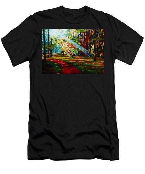 Trails Of Light Men's T-Shirt (Athletic Fit)