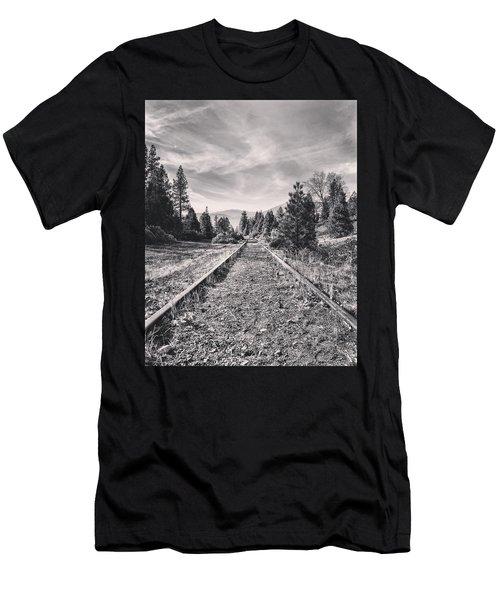 Train Tracks Men's T-Shirt (Athletic Fit)
