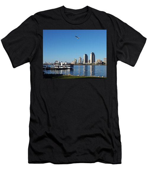 Tranquility By The Bay Men's T-Shirt (Athletic Fit)