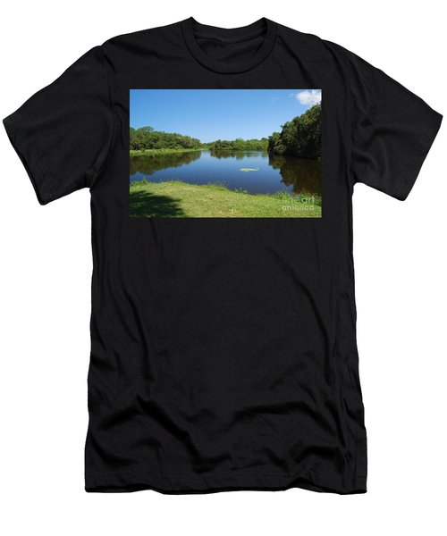 Men's T-Shirt (Athletic Fit) featuring the photograph Tranquil Lake by Gary Wonning