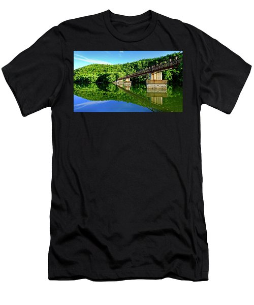 Tranquility At The James River Footbridge Men's T-Shirt (Athletic Fit)
