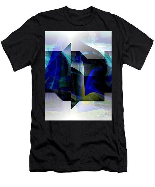 Geometric Transparency  Men's T-Shirt (Slim Fit) by Thibault Toussaint