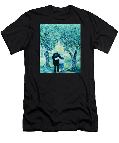 Travel Notebook.olive Groves Men's T-Shirt (Athletic Fit)