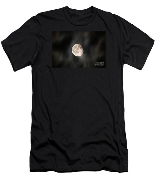 Travelling With Moon Men's T-Shirt (Athletic Fit)