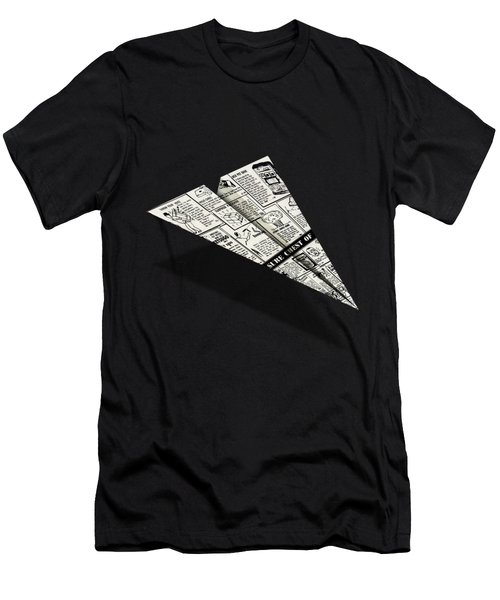 Treasure Chest Of Fun Comic Book Ad Paper Airplane Men's T-Shirt (Athletic Fit)