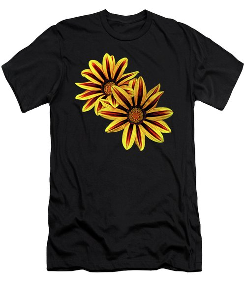 Treasure Flowers Painted Men's T-Shirt (Athletic Fit)
