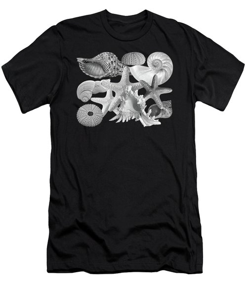 Treasures Of The Deep In Black And White Men's T-Shirt (Athletic Fit)
