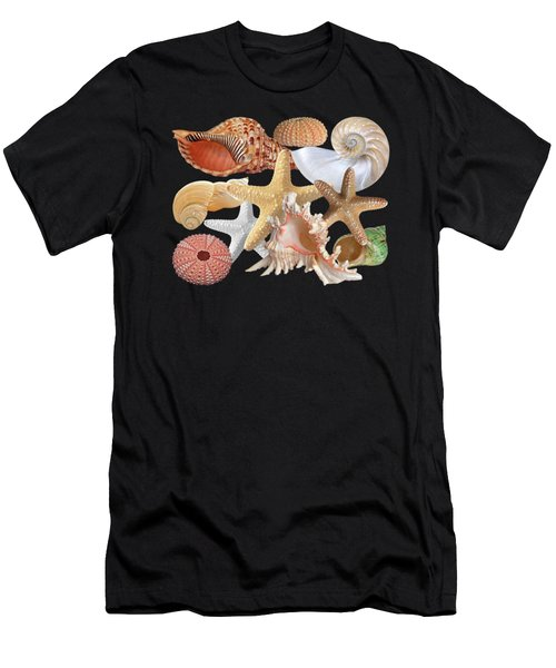 Treasures Of The Deep On Black Men's T-Shirt (Athletic Fit)